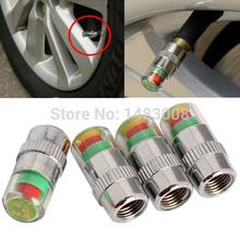Vástago de la válvula de presión 4pcs Car Auto de aire del neumático Caps Sensor Indicador de alerta de la bici de la alta calidad(China (Mainland))