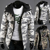 Mens Winter Jacket Army Camouflage Military Men's Hooded Wadded Coat Outerwear Male Slim Casual Cotton Outdoors Down Jacket