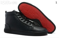 Christianity LOUIS Black Leather SNEAKERS MEN'S SHOES red-soled shoes
