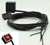 Hot Sale Red Light LED Universal Digital Gear Indicator Motorcycle Display Shift Lever Sensor Free Shipping !