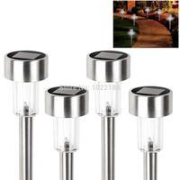 1pcs Stainless steel OutdoorSolar LED Lights Solar-Garden Lamp Landscape Stake