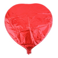 1pcs red 18inch child inflatable toys film ben heart balloon foil balloons for party decoration