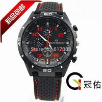 GT Watch 2014 F1 Men Sports Watch Luxury Brand Silicone Strap Fashion Quartz Movement Men Military Wristwatches Men's Watches