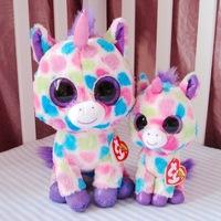 Anime Club Ty Beanie Boos Wishful Unicorn Plush toy 25CM big eyes plush doll