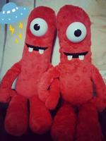 Anime Club Ty Plush Beanie Baby Toy Doll YO Gabba Gabba Red MUNO 27CM cute gift
