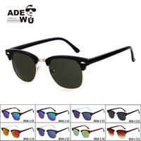 New in ADE WU'S Vintage Sunglasses Women Brand Designer Flash Lens Sun Glasses UV400 oculos de sol feminino gafas