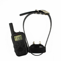 Pet Dog Training Collar X600 Remote LCD 100 Level Charge Shock Vibration Rechargeable And Waterproof