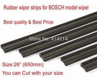 "Free shipping Auto Car Vehicle Insert Rubber strip Wiper Blade (Refill) 6mm Soft 26"" 650mm 10pcs/lot car accessories"