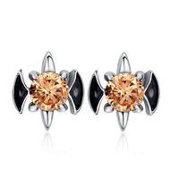 2014 Wholesale fashion men stud earrings punk crystal ear jewelry high quality