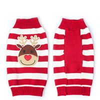 Xmas Reindeer Design Lovely Puppy Pet Cat Dog Sweater Knitted Coat Apparel Clothes 7 Sizes CHristmas Free Shipping