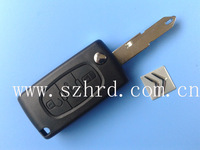 Top quality Citroen 206 Flip Remote Key Blank 3 Buttons With Battery Location