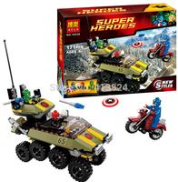 BELA 10123 MARVELThe Avengers building blocks Red Skull henchman and Captain America block toy set IRON FIST figures blcok toys