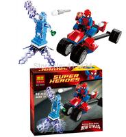 BELA10237 Amazing Spiderman building blocks The Avengers spiderman as Electro figures block toys
