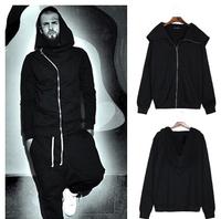 Best Quality 2014 New Original Design Autumn Winter Men Jacket  Zipper Wizard Hooded Solid Cardigans coat Casual Hoodies Sweater