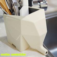 Multi-function Elephant Shape Desktop Storage Box Flowerpot Ware Drainer Home Decoration Dish Holder Rack Kitchen Tool BZ870792(China (Mainland))