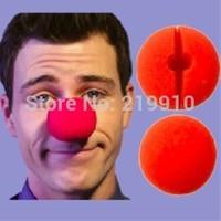 Free Shipping 5 pcs/lot  2 inches sponge clown nose - red 5 cm in diameter --Magic Trick, Fun Magic, Party Magic.