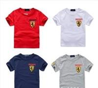 New Hot Children T Shirt Boys Girls Summer T Shirt Fit 3-7Yrs Kids Short Sleeve T Shirt Cotton Baby Tee Retail Baby Clothing
