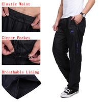 Big Size 4XL-7XL Breathable lining Black Sports Pants zipper Pocket Elastic Waist Running Joggers Trousers Sweatpants for Men
