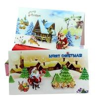 2014 New Vintage Christmas Greeting Cards Santa Claus Old Fashion  FREE SHIPPING