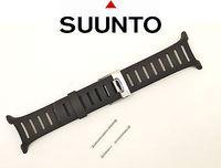 Suunto T-Series T1 T1C T3C T4C ORIGINAL Black Elastomer Rubber  Watch Band Strap w/ 2 Pins
