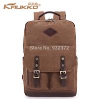 Kaukko Men women Backpack Shoulder Bag canvas European and American Schoolbag Satchel Travel bookbag Rucksack Camping Hiking Bag