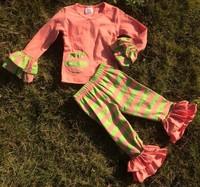 2015 New Baby Girls stripe Capri set