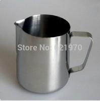 Free Shipping Stainless Steel 1L 1000ml foam cup,Coffee garland cup Latte jug, Milk Mug