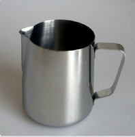 Free Shipping Stainless Steel 1L 1000ml foam cup,Coffee garland cup Latte jug, Milk Mug