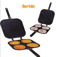 1pc/lot 2-in-1 Pancake Maker Pan Omelet Maker Kitchen Egg Cake Baking Tool Four Hole Pan Mould Pancake Maker Tools DP870791