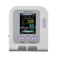 Contec08A color LCD electronic sphygmomanometer New Arm Digital NIBP Sp02 Monitor memorable white