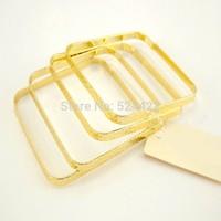 Min 1pc Gold Plated Punk Square Shape Bangles Simple Square Shape Bangles SZ002