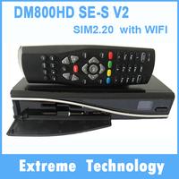 DM800se-s V2 Satellite TV Receiver DM800HD se-s V2 with SIM2.20 1GB Flash 521MB RAM HbbTV and Web browser Free Shipping 10pcs
