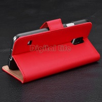 Wallet Card Holder Red Business Synthetic Leather Card Holder Flip Case Cover for Samsung Galaxy S3 S4 S5 Note3 SV18 SV010837