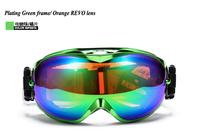Freeshipping New brand ski goggles double lens anti-fog big spherical professional ski glasses unisex multicolor snow goggles