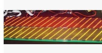 Wholesale LED bus display moudle P6 Semi-outdoor yellow  76.8*9.6CM with high brightness