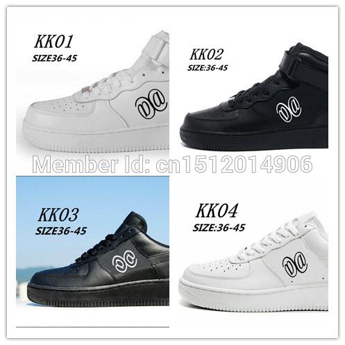Бесплатная доставка 2014 famious бренд спортивной обуви номер 1 один высокий низкий для мужчин и женщин все черный белый свободного покроя скейтбординг