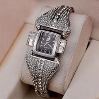 Europe Trade hot elegant Lady diamond luxury alloys watches bracelet wrist goods wholesale