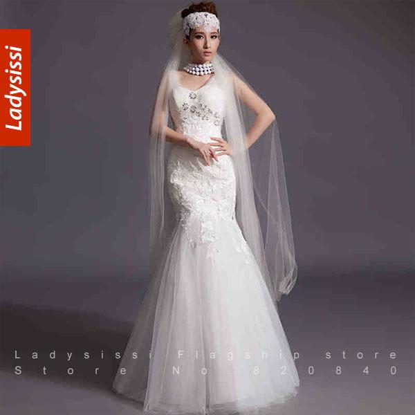 Diamond Fishtail Wedding Dresses : Popular crystal corset wedding dresses aliexpress