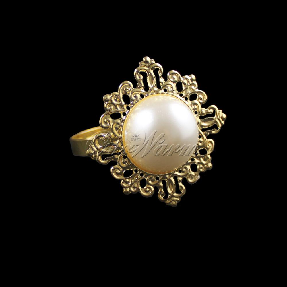 Кольцо для салфеток Ourwarm 24pcs/, Banquet CJH-JZZ-Q-WHT-24 кольцо для салфеток quaeas aliexpress qn13030707