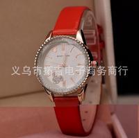2014 simple fashion diamond ladies watch Mickey quartz watches wholesale free shipping