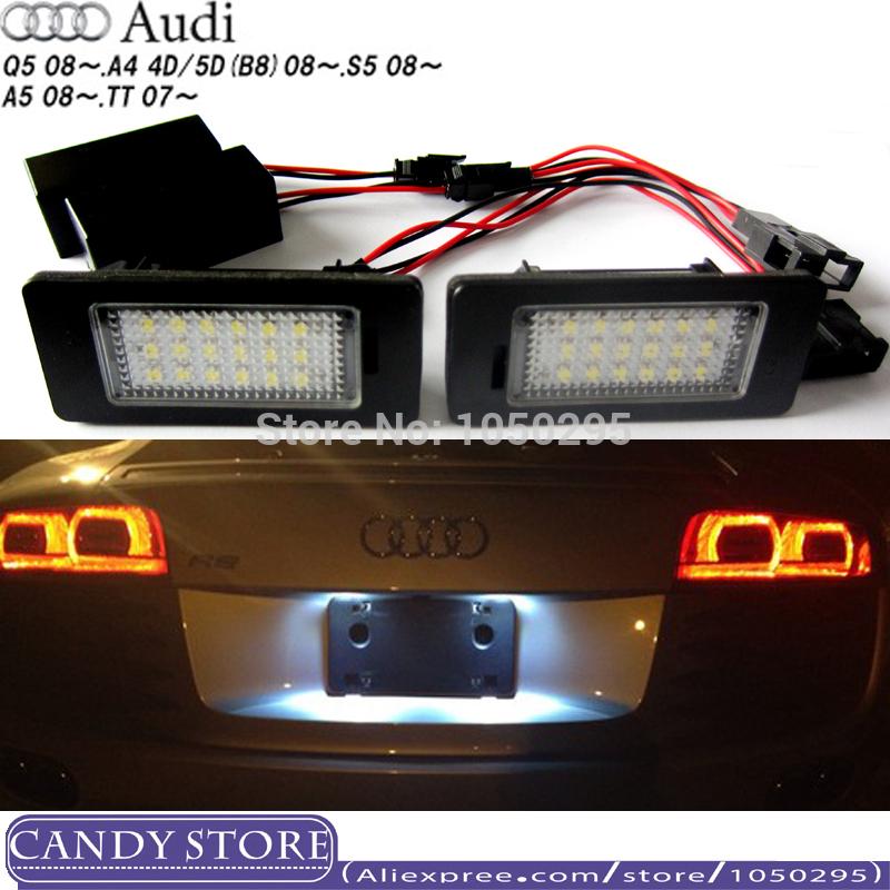 Фары номерного знака Candy 5 , 18 SMD Audi Audi A4 B8 S4 A5 S5 Q5 S TT rS масляный фильтр audi a4 a4l a5 q5 q7 3 0 3 2
