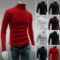 2014 New .Korean style   slim fit  pullover  mens turtleneck sweater M-XXL
