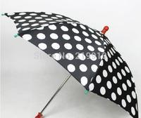 Free Shipping Round dot umbrella black --Magic Trick, Fun Magic, Party Magic.