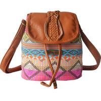 Women's Handbag Messenger Bag Crossbody Shoulder Bags Travel Bohemia Print Drawstring Bucket Canvas School Bags For Teenagers