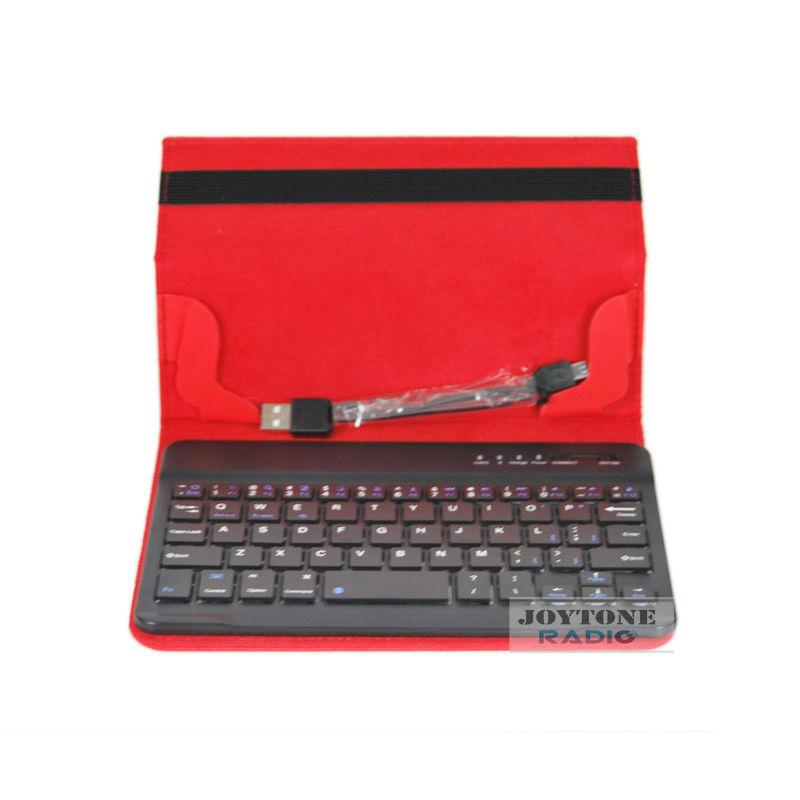 Joytone 7 inch portable bluetooth keyboard tablet case leather(YNK-24)(China (Mainland))