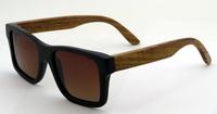 2014 wholesale bamboo sunglasses  bamboo black+pear wood temple Frame Gradient  Brown Lens 6095PBG