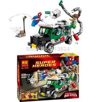 BELA10239 Amazing Spider-man building blocksThe Avengers spiderman as Doctor Octopus Doc Ock minifigures block toy set