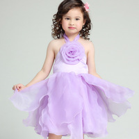 Aones New Princess Girls Party Dress Sleeveless Elegant Children's Evening Dresses Christmas Flower Kids Tutu Dress Up EDS-001