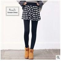 2014 winter New stars Houndstooth women Leggings Korean printing plus thick velvet culottes Free Shipping