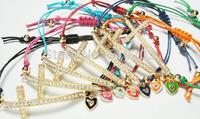 Wholesales bracelets for women Rhinestone Sideways Cross Bracelets